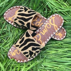 New Island Sandals Beads Slides Wedges Flip Flops